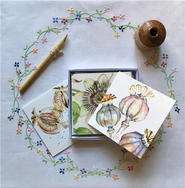 Botanical Art Cards - Flowers I