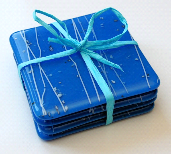 Blue & White coasters